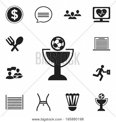 Set Of 12 Editable Mixed Icons. Includes Symbols Such As Currency, List, Chatting And More