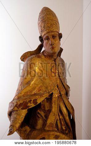 ZAGREB, CROATIA - FEBRUARY 17: Holy Pope, second half of the 17th century in Zagreb, Croatia on February 17, 2015.
