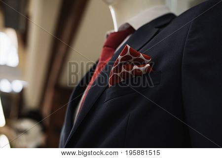 stylish Men's classic suit in the store