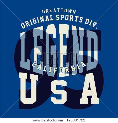 graphic design original sports usa for shirt and print