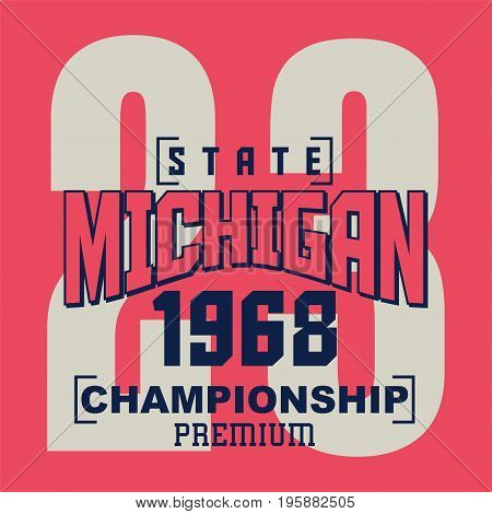 graphic design state michigan for shirt and print