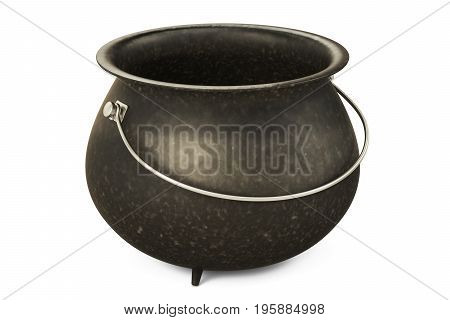 Empty Pot 3D rendering isolated on white background