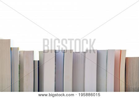 Books On White Background- Copy Space