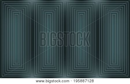 Dark geometric background with joined lines and rectangles