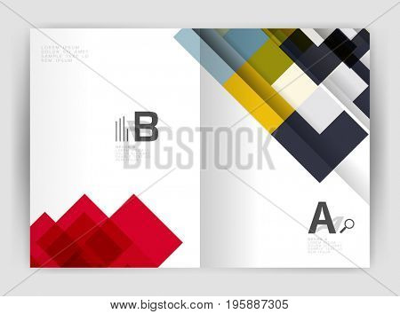 Square design corporate business flyer or annual report cover template. business abstract background