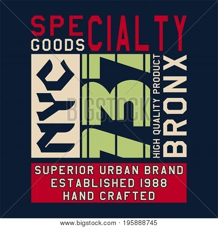 graphic design SPECIALTY GOODS NYC for shirt and print