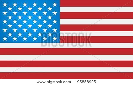 Light American flag on a white background