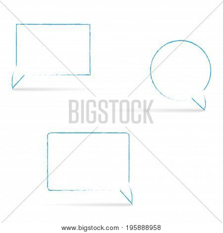Message box with shadows on a white background