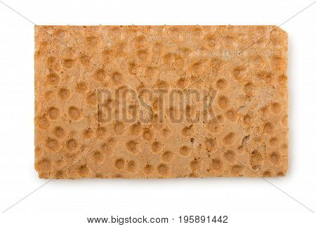 Crispbread Isolated On White Background, Top View.