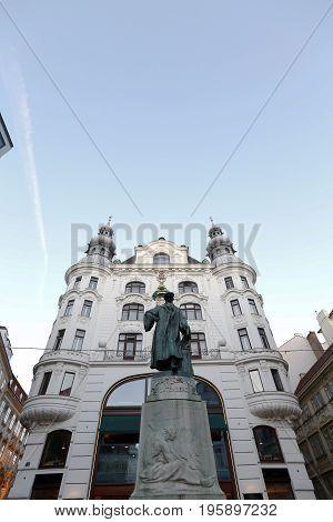 Gutenberg Memorial In Vienna, Austria