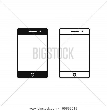 Smartphone icon vector mobile phone simple illustration.