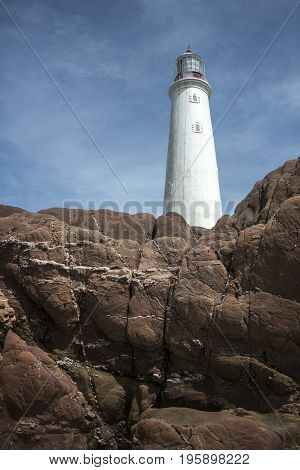 La Paloma lighthouse Rocha province Uruguay 1874. Active. The area was declared a national monument in 1976