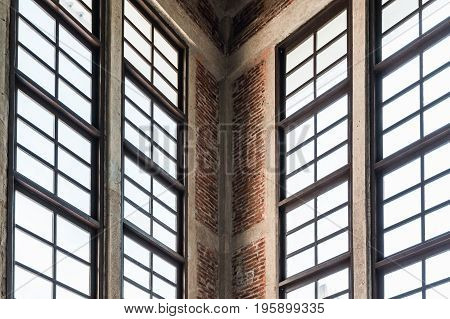 Close up on window interior to show table architect of structure minimal abstract background lowkey lighting.