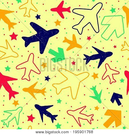 Plane And Arrow Pattern