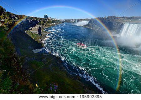 Beatiful Niagara Falls Landscape, Canadian Falls, Canada