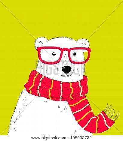 Hipster Polar Bear.
