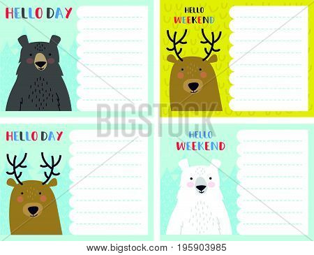 Vector Notes Card Set