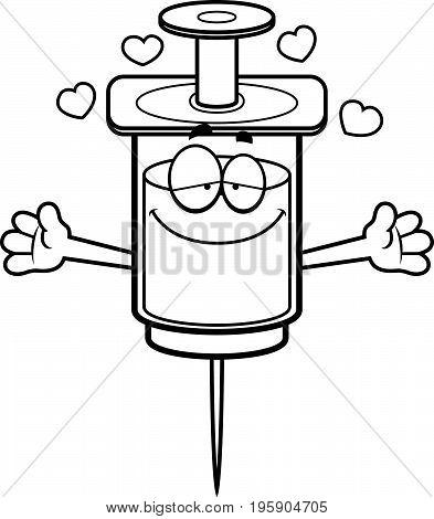 Cartoon Syringe Hug