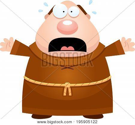 Scared Cartoon Monk