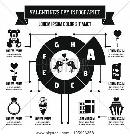 Valentine day infographic banner concept. Simple illustration of Valentine day infographic vector poster concept for web