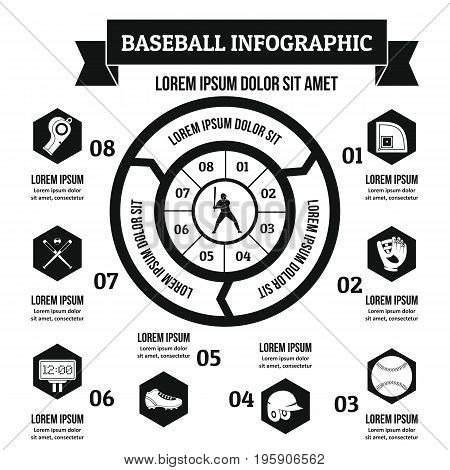 Baseball infographic banner concept. Simple illustration of baseball infographic vector poster concept for web