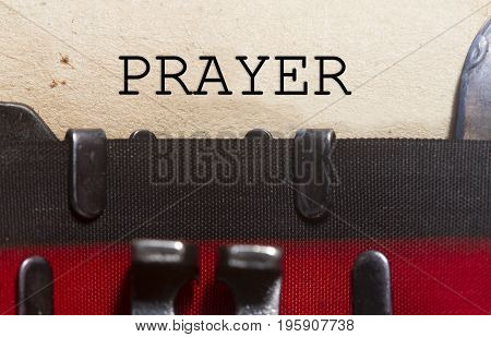 Prayer Word