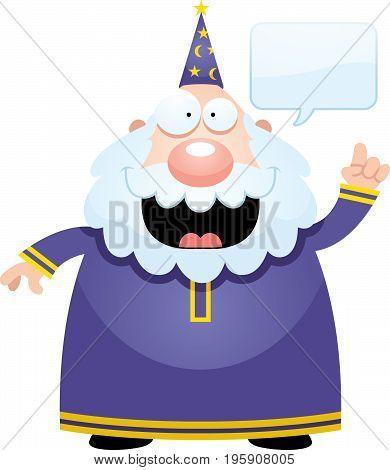 Cartoon Wizard Talking