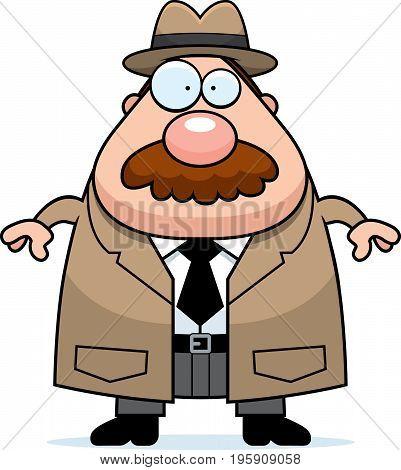 Cartoon Detective Mustache