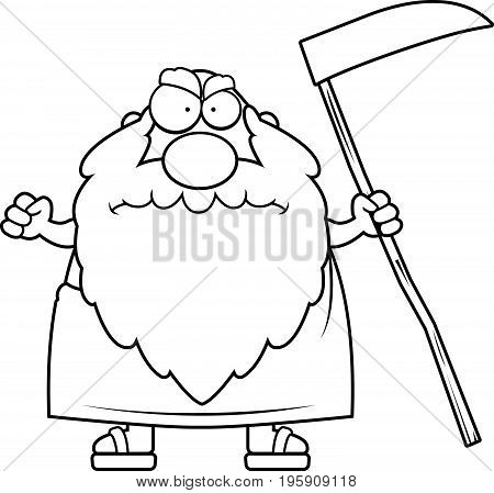 Angry Cartoon Father Time