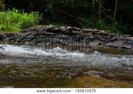 Flowing stream of waterfall, stream waterfall, river