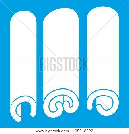 Cinnamon icon white isolated on blue background vector illustration