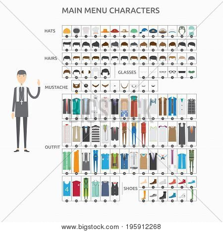 Character Creation Lecturer Pastor | set of vector character illustration use for human, profession, business, marketing and much more.The set can be used for several purposes like: websites, print templates, presentation templates, and promotional materi
