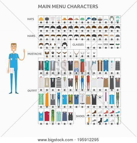 Character Creation Nurse   set of vector character illustration use for human, profession, business, marketing and much more.The set can be used for several purposes like: websites, print templates, presentation templates, and promotional materials.