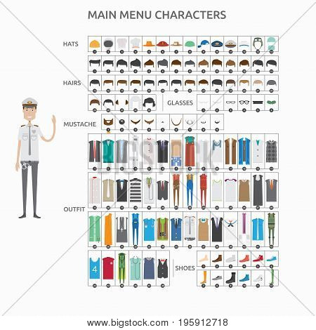 Character Creation Policeman   set of vector character illustration use for human, profession, business, marketing and much more.The set can be used for several purposes like: websites, print templates, presentation templates, and promotional materials.