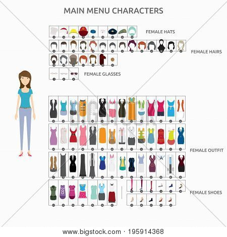 Character Creation Animator   set of vector character illustration use for human, profession, business, marketing and much more.The set can be used for several purposes like: websites, print templates, presentation templates, and promotional materials.