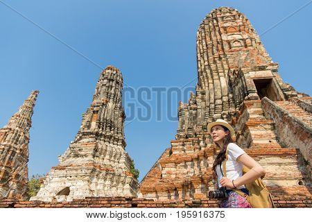 Young Girl Backpacker Relaxing Travelling