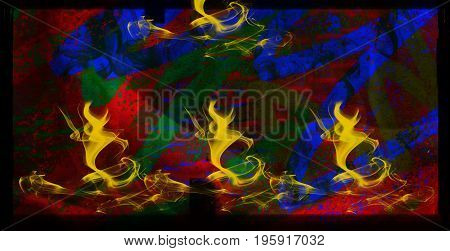Surreal. Surreal background. Abstract background. Bright background. Colored background. Fantastic background. Art. Artwork. Fire style.