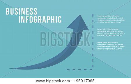 Business growth arrow design style vector illustration