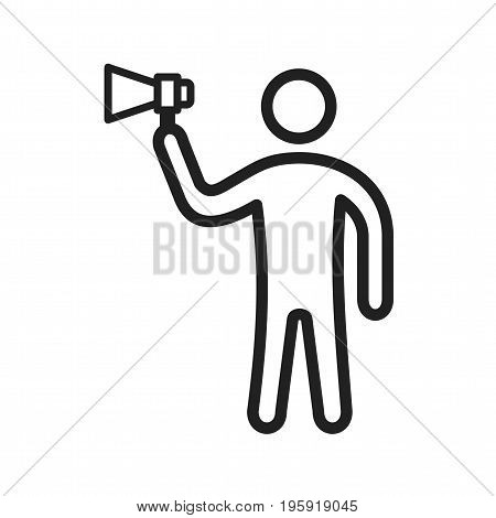 Outspoken, talk, bold icon vector image. Can also be used for Personality Traits. Suitable for web apps, mobile apps and print media.