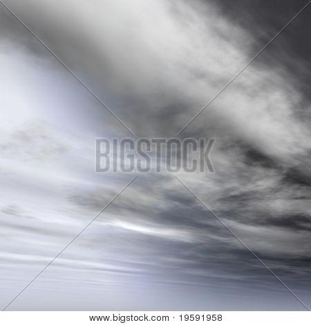 High resolution gray sky background