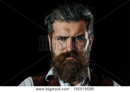 Man With Long Beard, Moustache And Grey Hair