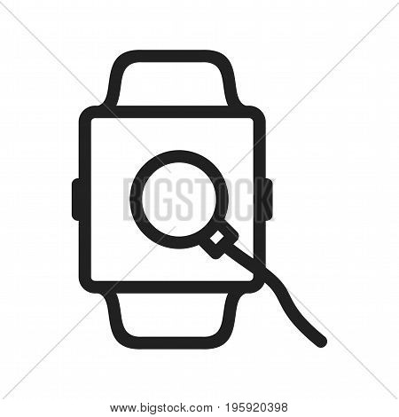 Charger, watch, cable icon vector image. Can also be used for Smart Watch. Suitable for mobile apps, web apps and print media.