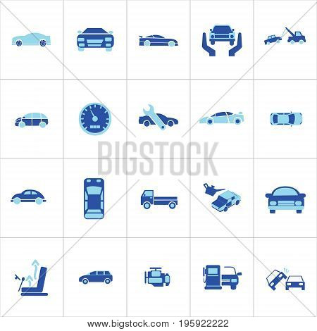 Vector Creative Illustration Car icons set. Universal car icon to use in web and mobile UI, car basic UI elements set