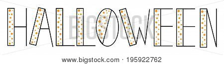 Happy Halloween Holiday Lettering on White Background