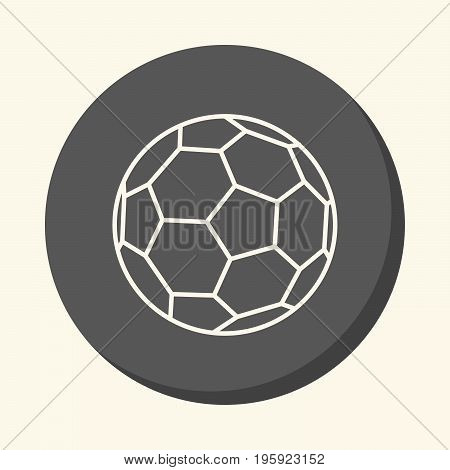 Soccer ball vector round line icon with an illusion of volume an element for your school site or booklet