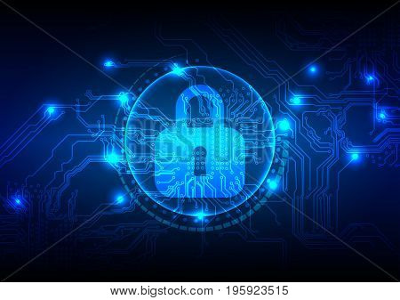 Abstract security digital technology background. Illustration Vector design