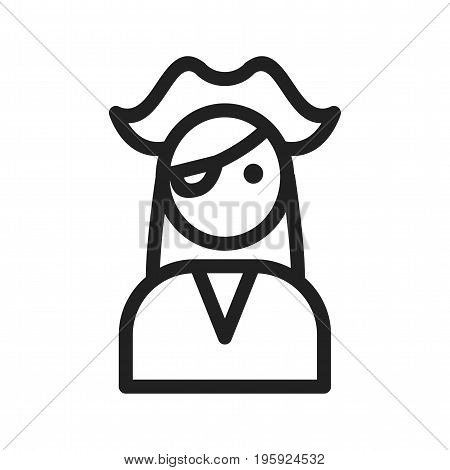 Female, pirate, character icon vector image. Can also be used for Pirate. Suitable for use on web apps, mobile apps and print media