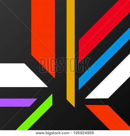 Abstract background with colorful geometric lines. Vector backdrop