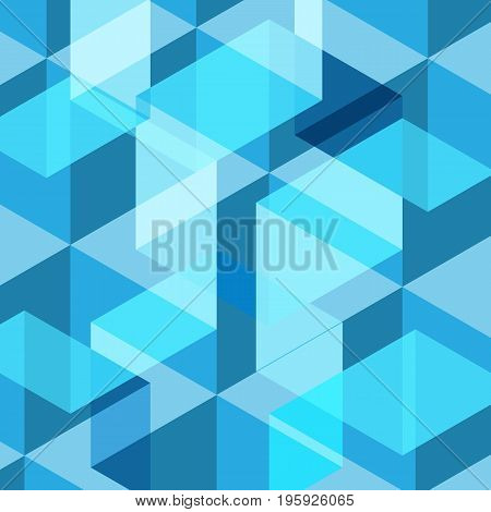 Abstract blue geometric template background, stock vector