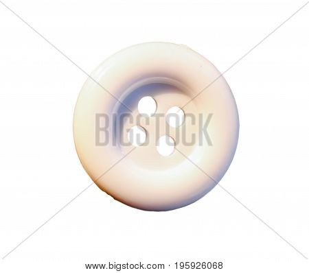 Close up button white on a white background